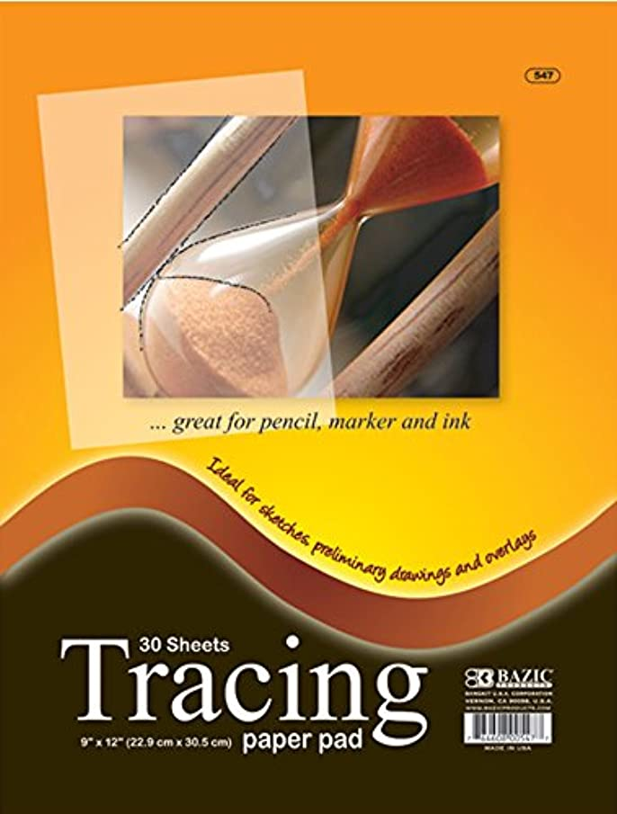"BAZIC Clear Tracing Paper Pad for Drawing, Tracing, and Sketching (30 Sheets. 9""x12"")"