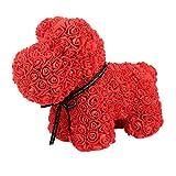 Beautyrain Rose Chiot PE Fleur Chien Chanceux éternelle Fleur poupée Chiot poupée...
