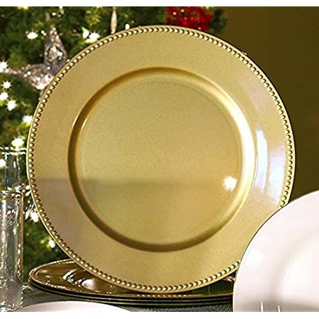 13 Fluted Charger Plate Color Set of 4 Gold