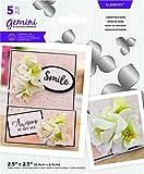 Crafters Companion GEM-MD-ELE-CHRO Gemini Elements - Juego de troqueles de espuma de invierno con diseño de flores, color rosa, Plateado, Talla única