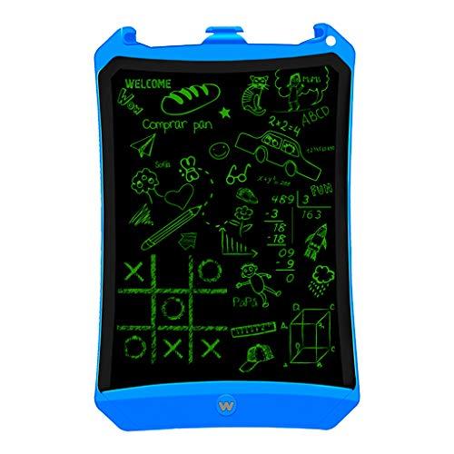 "Woxter Smart Pad 90 Blue - Pizarra electrónica, Tableta de escritura de 9"", Tonalidad Verde, Sensor de presión (10-200g), pila CR2016, Imanes para Nevera, color azul"