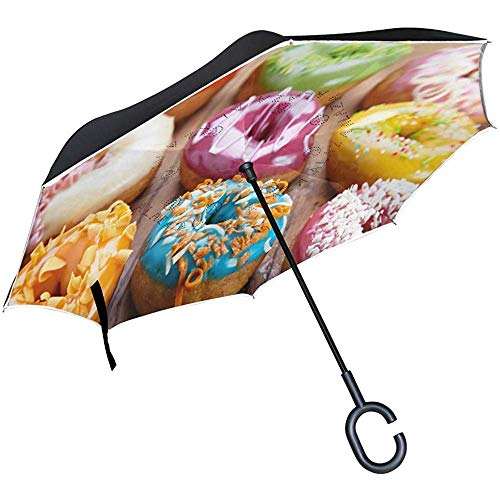 Alice Eva Reverse Umbrella donut met Pink Chocolate Lemon anti-UV-bescherming