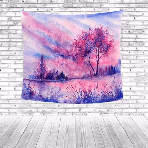 Djkaa Boerenhuis huis dorm decoratie landschap bos decoratieve strand hanger wandbehang plafond handdoek schilderachtig tapijt bedrukken wandtapijt 150 x 150 cm.