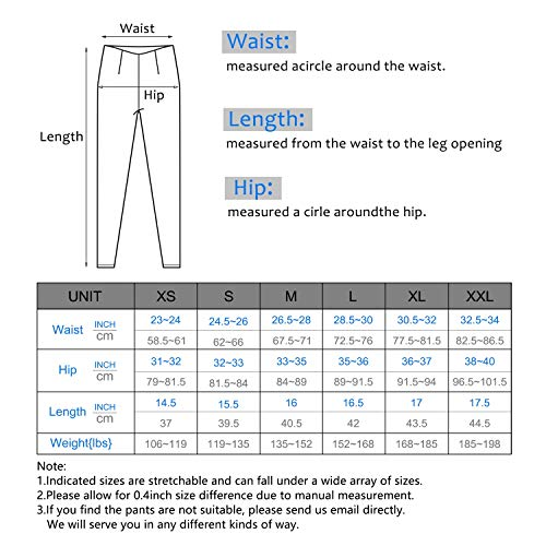 IUGA Yoga Shorts Workout Shorts for Women with Pockets High Waisted Biker Shorts for Women Running Shorts with Side Pockets Black