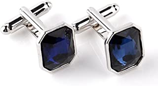 New Jersey NJ State Outline on Faded Blue Men/'s Cufflinks Cuff Links Set