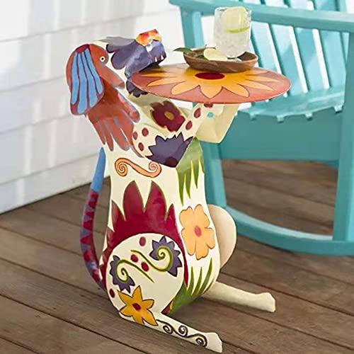 Taloit Adornos de jardín al aire libre, esculturas de jardín Estatuas Figura animal Divertido animal resina arte titular colorido animal ornamentos esculturas para sala dormitorio