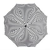 FGART Paraguas De Vinilo con Volantes A Rayas para Estudiantes Paraguas Soleado Portátil De Tres Pliegues Paraguas De Protección Solar De Verano para Mujer
