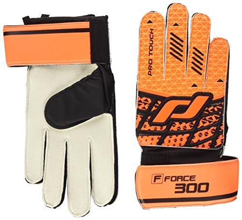 Pro Touch Niños Force 300AG Jr. Guantes de Portero, Infantil, Color Naranja/Negro, tamaño 6