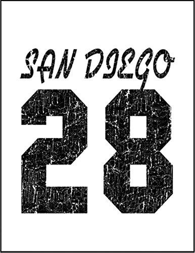 【サンディエゴ カレッジロゴ 野球 ロゴ】 余白部分にオリジナルメッセージお入れします!ポストカード・はがき(白背景)