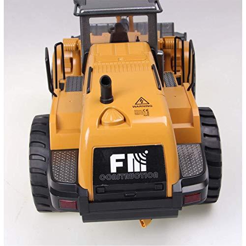 RC Auto kaufen Baufahrzeug Bild 4: FM- Electrics FM1583  Die Cast Metall-Radlader mit Sound 1:14 mit 10 Kanal Sender Huina 583*