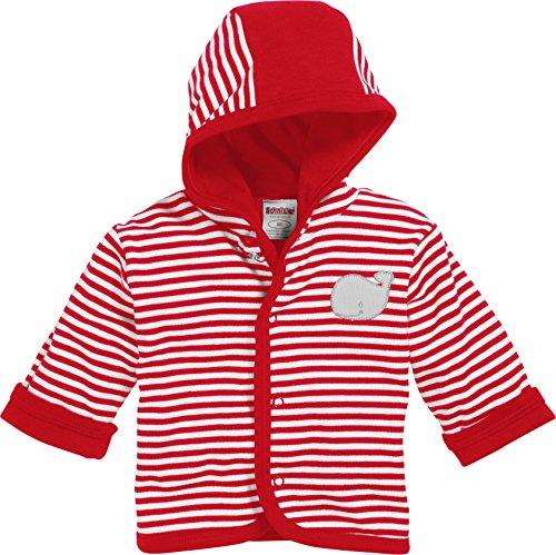 Playshoes GmbH Schnizler Baby-Unisex Jäckchen Interlock Wal Jacke, Rot (rot/weiß 44), 50