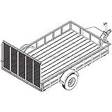 6′ 10' x 12′ Utility Trailer Plans – 5,200 lb Capacity | Trailer Blueprints Model U82-144-52J