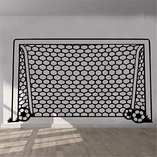 Fútbol Goal Net Etiqueta de la pared Arte Habitación de los niños Niño Niña Decoración Vinilo Mural Dormitorio Decoración Etiqueta de la pared Mural A3 72x42 cm