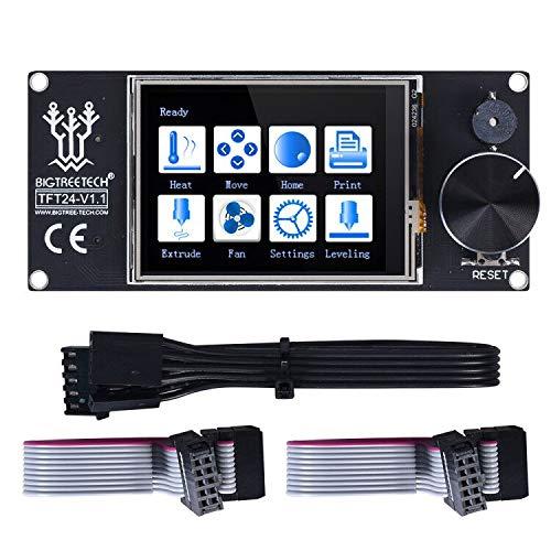 BIQU 3D Printer Part TFT 2.4 Inch Touch Screen Display RepRap Smart Controller Panel Similar 12864 LCD for Ender 3 SKR V1.3 MKS Gen Control Board (TFT 24 for Ender 3)
