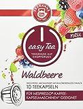Teekanne easy Tea Waldbeere, 10 Stück Teekapseln für Nespresso - Kaffeemaschinen, 6x 10er Pack (6 x 35 g)