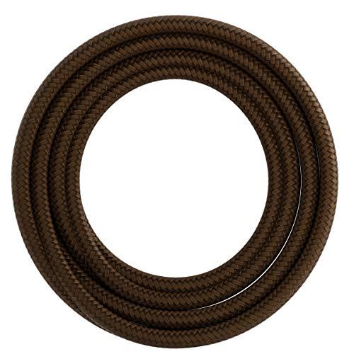Calex textiel omwikkelde kabel 2x0,75mm2 3M bruin, max. 250V-60W