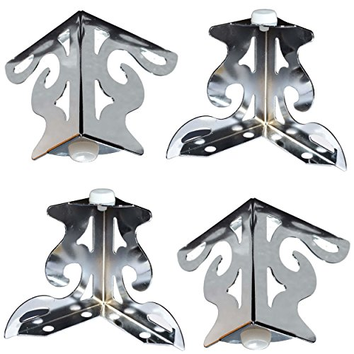 4er Set Möbelfüße aus Metall (Chrom) - vielseitig einsetzbare Füße für Möbel Sofa Schrank Tisch (10x5,3x8cm)