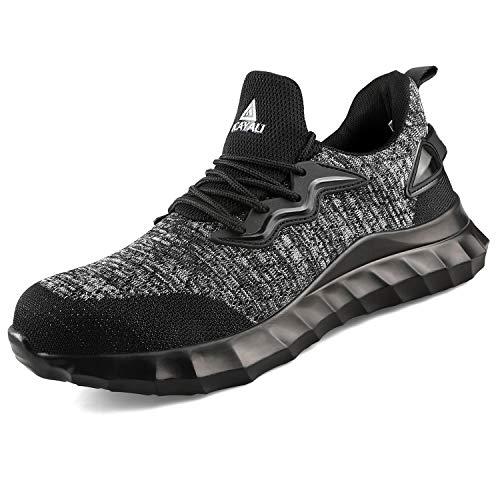 Ucayali Zapato de Seguridad Calzado de protección Hombre Adultos Unisex Negro 45