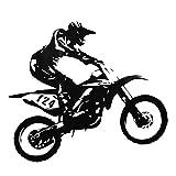 Yosoo Stickers Muraux Moteur-Racing Sticker Mural en PVC Amovible Autocollant Mural Motocycliste Salon Chambre Décoration De Chambre