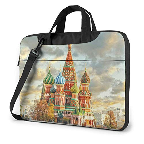 Laptop Shoulder Bag Red Square Moscow Notebook Sleeve Case, Shockproof Carrying Briefcase Sleeve with Organizer Pocket
