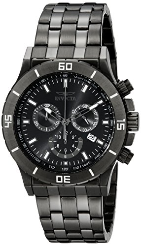 Invicta Men's 0393 II Collection Chronograph Black-Ion Plated Stainless Steel Watch