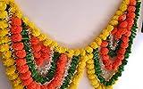 Estationeryhouse India hecho a mano diwali caléndula jazmín escarabajo hoja toran puerta colgados decoración boda mehndi fiesta