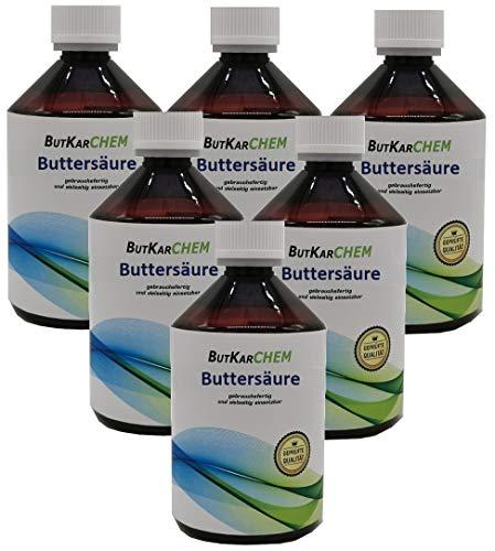 ButKarCHEM Artnr. 102 3000ml=(6x500) Markenregistrierte Buttersäure über 99% Bis 12 Uhr bestellen, am selben Tag verschickt. z.B.Weichmache (3000 ml)