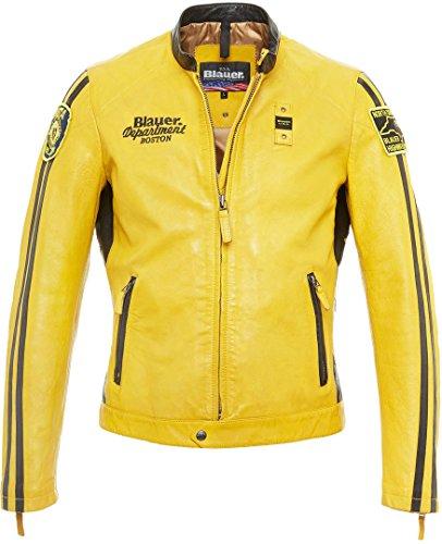 Blauer USA Garret Giacca in pelle giallo Gelb L