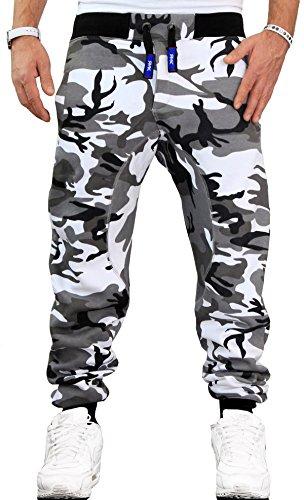 RMK Herren Hose Jogginghose Trainingshose Fitnesshose Sweatpants H.03H.03 (XL Camouflage hell)