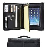 Dossier de conférence en cuir fait à la main avec fermeture à glissière pour iPad 9.7 / iPad...