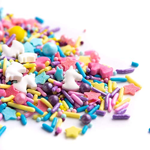 Sweets Indeed Sprinklefetti Unicorn Sprinkles - Gluten-Free Pastel Sprinkle Medley for Baking Cupcakes and Cakes - 6.5 ounces
