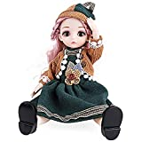 QIANHUI 12 Inch Movable Joints BJD Doll 30cm 1/6 Makeup Dress Up Cute Long Hair Dolls with Fashion Dress for Girls Toys (Capricom)