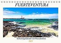 FUERTEVENTURA Geburtstagskalender mit Planerfunktion (Tischkalender 2022 DIN A5 quer): Traumhafte Bilder einer facettenreichen Insel (Geburtstagskalender, 14 Seiten )