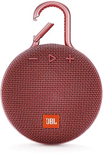 JBL Clip 3 - Altavoz Bluetooth portátil, Resistente al Agua IPX7, micrófono para Llamadas con Manos Libres, hasta 10 Horas de autonomía, Color Rojo
