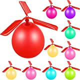 24 Pieces Balloon Helicopter Toy Balloon Powered Helicopter Flying Toy Outdoor Party Favor Easter Basket, Stocking Stuffer or Birthday Colorful Fun Fly Toys for Boys Girls Indoors Outdoors Sport Toy