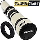 Ultimaxx 650-1300mm Telephoto Zoom Lens for Nikon D7500, D500, D600, D610, D700, D750, D800, D810, D850, D3100, D3200, D3300, D3400, D5100, D5200, D5300, D5500, D5600, D7000