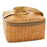 UKtrade® Caja de almuerzo térmica térmica con aislamiento portátil, bolsa de almacenamiento para picnic (2 unidades)