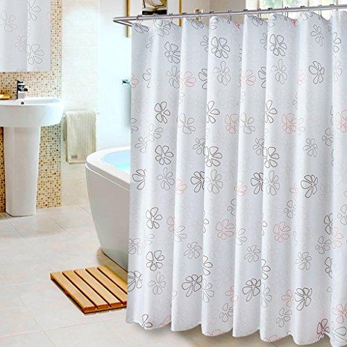 Rideaux de douche Polyester rideau de douche salle de bain imperméable à l'eau mildiou hôtel rideau de douche Polyester rideau de douche partition rideau (L x H cm) Rideaux de douche de haute qualité