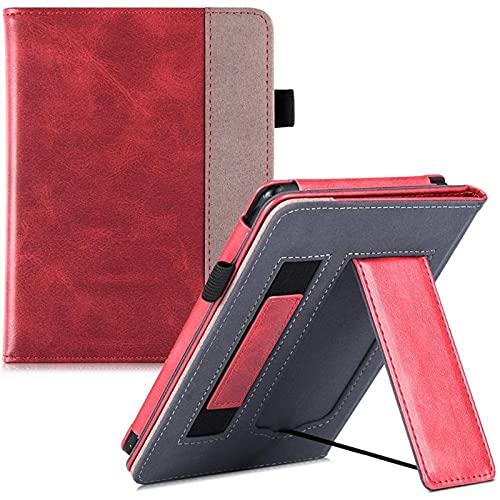 AIYIGEYALI Casos de Libro electrónico Stand Case, for Kindle Paperwhite Generaciones, PU Cubierta DE Cuero Smart con Correa de Mano/Cierre magnético/Auto Sleep/Wake