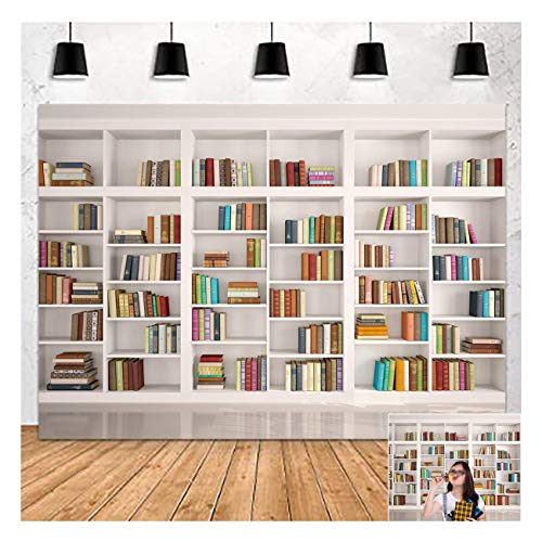 Retro Bookcase Magic Books Library Bookshelf Theme Photography Background 7x5ft Vinyl Used for Study Room Decor Photo Backdrops Children Education Bookshop School Library Wisdom Studio Props