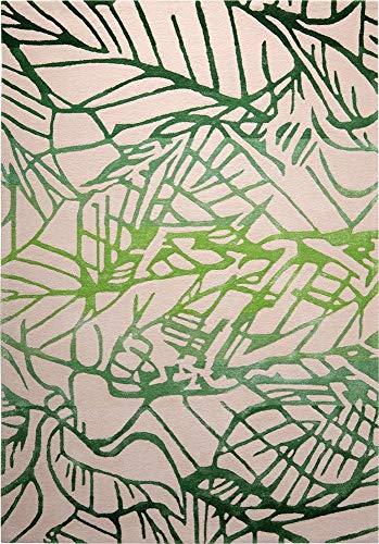 ESPRIT Natural Wilderness Moderner Markenteppich, Neuseelandwolle/Viscose, Grün, 140 x 70 x 1 cm