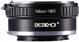 AI-NEX Adaptador Beschoi Anillo Adaptador de Lente para Nikon AI a Sony NEX E-Mount Cámara Adaptador de Montaje de Lente para Sony NEX Series