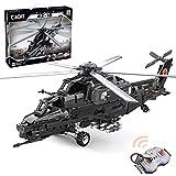 YOU339 Cada C61005W Simulación 2.4G RC Militar helicóptero modelo Bricks con motores Set compatible con Lego Technic, MOC DIY montaje avión de ataque de juguete para CAIC Z-10 (989 piezas)