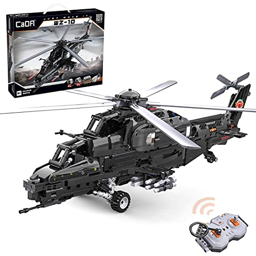 MBKE Technic Ferngesteuert Hubschrauber Modell, 989 Teile CADA 2.4G RC Helikopter mit Motoren,Bausteine Konstruktionsspielzeug Kompatibel mit Lego Technic, C61005W