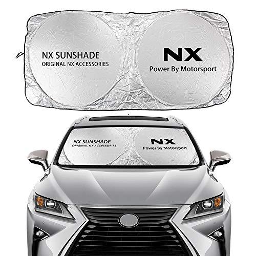 JHSHOP Parasol para Coche Windshield Sun Sunde Cubierta Compatible con Lexus Es RX NX CT200H FSPORT LS UX LX GS GX es Accesorios de Auto UV Protector de Visera Solar Sombrilla (Color : For NX)