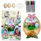 2020 New Egg Decorating Coloring Kit Diy Creatividad Pintar Juegos de Navidad Accesorios Motorizados Pascua Coloración Musical Luz para Niños Juguete educativo Regalo
