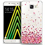 Samsung Galaxy A5 2016 Case, Ultra Thin Sweetie Heart Flakes Case