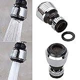 LRRH 360 Rotate Swivel Water Saving Tap Aerator Diffuser Faucet Nozzle Filter Adapter #0028/4