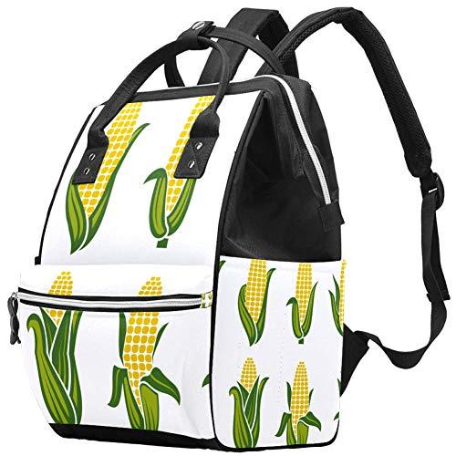Grand sac à langer multifonction pour bébé, collection de motifs oreilles de maïs, sac à dos de voyage pour maman et papa