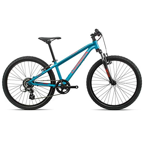 Orbea K012 MX 24 XC - Bicicleta de montaña para niño, 8 velocidades, 32,9 cm, 24', Color Azul y Rojo
